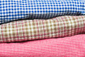 Checked fabric Stock Image