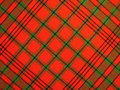 Checked fabric red texture suitable as background Stock Photo