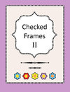 Checked frames borders and page design elements set of black white checkered with dividers rulers accents Royalty Free Stock Photography