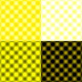 Checked Grid Circular Blur - Yellow & Black & White Royalty Free Stock Photo