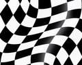 Checked racing flag Royalty Free Stock Photo