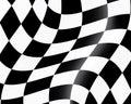 Checked racing flag Royalty Free Stock Photo
