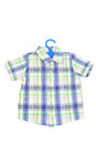 Checked shirt child isolated on white Stock Photo