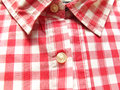 Checked shirt red and white cotton Royalty Free Stock Image