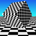 Checker block a checkered is featured in an abstract background illustration Royalty Free Stock Photography