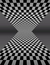 Checker Board In Perspective - Vector Illustration Royalty Free Stock Photos