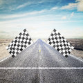 Checker Flag Royalty Free Stock Photo