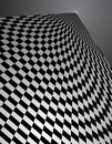 Checker Pattern in perspective - vector illustrati Stock Image