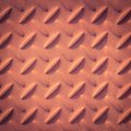Checker plate metal retro texture and background Stock Image