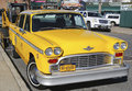 Checker taxi cab produced by the checker motors corporation in brooklyn ny november on november remains Royalty Free Stock Photography