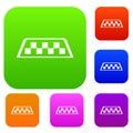 Checker taxi set collection