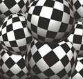 Checkerboard background balls Stock Images