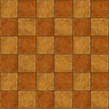 Checkerboard ceramic brown stone tiles seamlessly tileabl two tone tileable Royalty Free Stock Photo