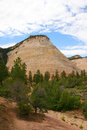 Checkerboard mesa zion canyon national park utah one of the landmarks of Royalty Free Stock Image