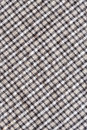 Checkerboard pattern cloth texture close up wrinkled old and dirty Royalty Free Stock Images