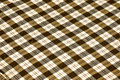 Checkerboard pattern on fabric brown Stock Image