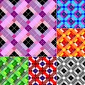 Checkered Abstract Seamless Background Stock Photos