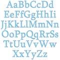 Checkered alphabet Royalty Free Stock Photo