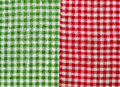 Checkered background green and red and white Royalty Free Stock Photo
