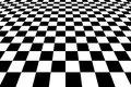 Checkered Background In Perspective Royalty Free Stock Photo