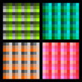 Checkered background set Royalty Free Stock Photography