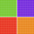 Checkered background set in red blue violet green and orange bright colores Stock Images