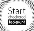 Checkered black white flag background illustration Stock Photography