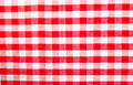 Checkered cloth a red texture Royalty Free Stock Photography