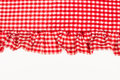 Checkered cloth a red and white with flounce Stock Photography