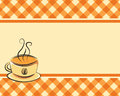 Checkered coffee vector background with space for text Royalty Free Stock Photography