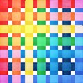 Checkered colorful background vector watercolor Stock Images