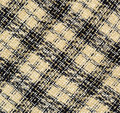 Checkered fabric beige and blue for background Royalty Free Stock Photo