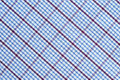 Checkered fabric blue and red Stock Images