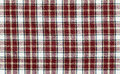 Checkered fabric red and white Stock Image