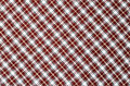 Checkered fabric red and white for background Royalty Free Stock Images