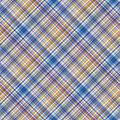 Checkered fabric textile wallpaper texture seamless tartan pattern vector background Royalty Free Stock Photography