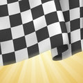 Checkered flag background card template vector Royalty Free Stock Photos