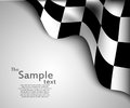 Checkered flag background vector illustration Royalty Free Stock Photography