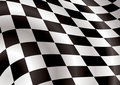 Checkered flag bellow Royalty Free Stock Photo