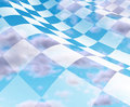 Checkered Flag with blue sky Royalty Free Stock Images