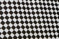 Checkered flag close up of black and white pattern Royalty Free Stock Photo