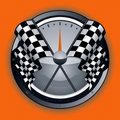 Checkered Flag Logo Stock Photo