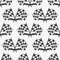 Checkered Flag seamless pattern, racing flags icon and finish ribbon. Royalty Free Stock Photo