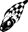 Checkered flag - symbol racing Stock Photos