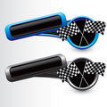 Checkered flag web buttons Stock Photos