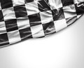 Checkered flag on white background Royalty Free Stock Photo