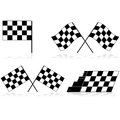 Checkered flags icons showing a race flag in different angles and arrangements Stock Photos