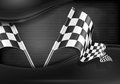 Checkered flags on mash background Royalty Free Stock Photography