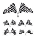 Checkered Flags set Royalty Free Stock Photo