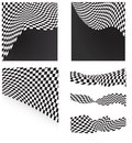 Checkered flags set background Royalty Free Stock Photo